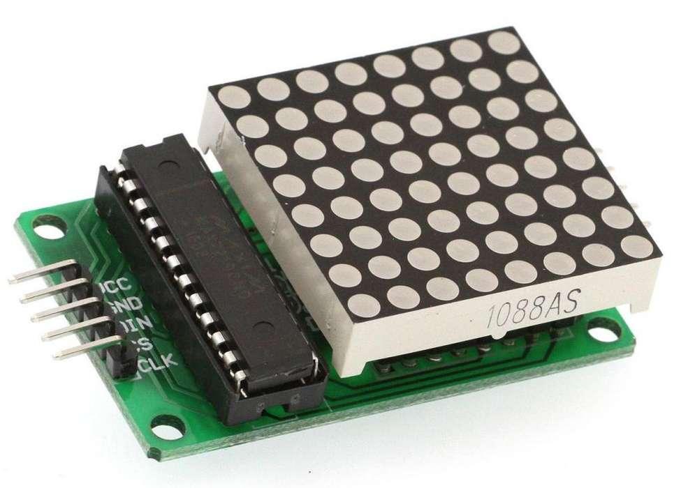 Matriz LED 8x8 MAX 7219para arduino