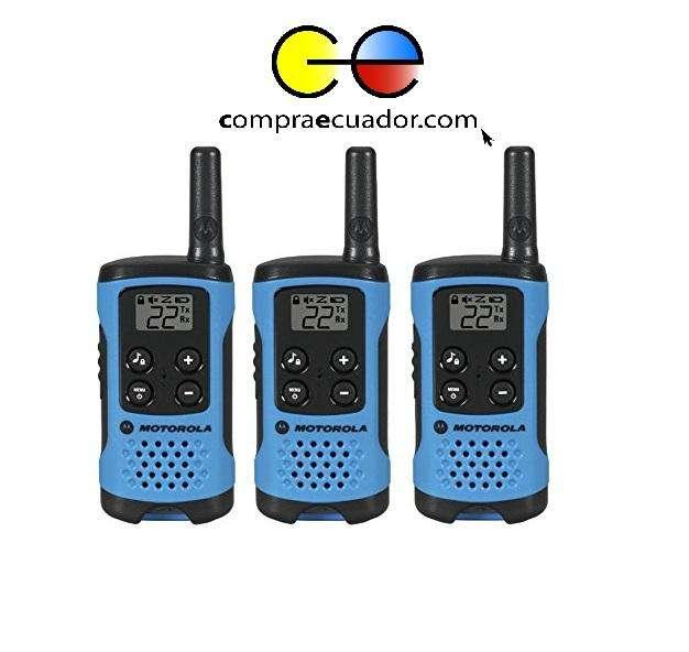 Motorola T100TP 3 Radios de comunicación 25km Walkie Talkie