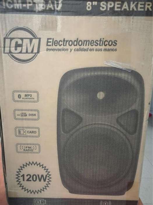 Cabina Parlante de 8 Pulgadas NUEVA! - Bluetooth Mp3 USB SDcard y Radio FM