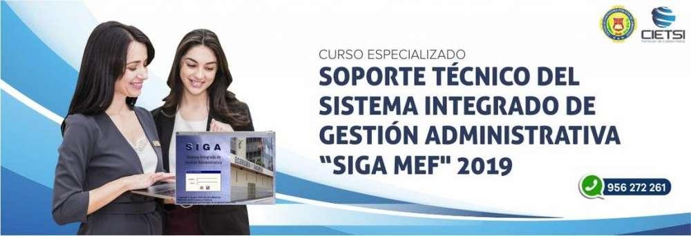 CURSO ESPECIALIZADO SOPORTE TÉCNICO SIGA MEF 2019 (NUEVO)