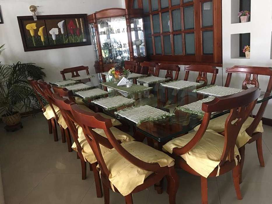 Comedor de 12 puestos mas mueble bife