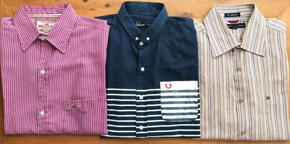 Tres camisas de marca Talla: L En muy buenas condiciones Excelente precio