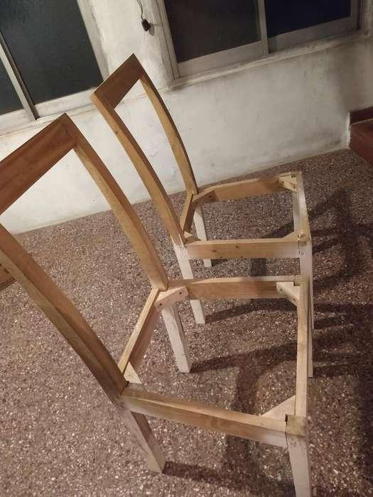 Estructuras de Sillas de Madera