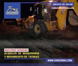 ALQUILER DE MAQUINARIA PESADA Y MOVIMIENTO DE TIERRAS