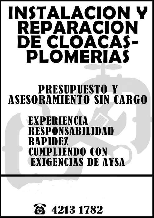 cloaquista, plomero, gas, construcción en general,mantenimiento