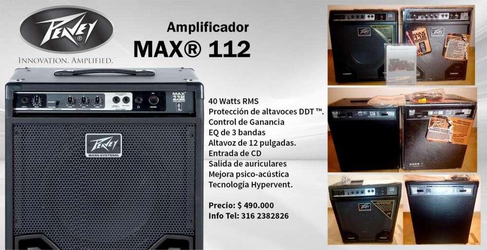 Vendo o Cambio Amp 40 watts Bajo Peavey Max 112 Nuevo