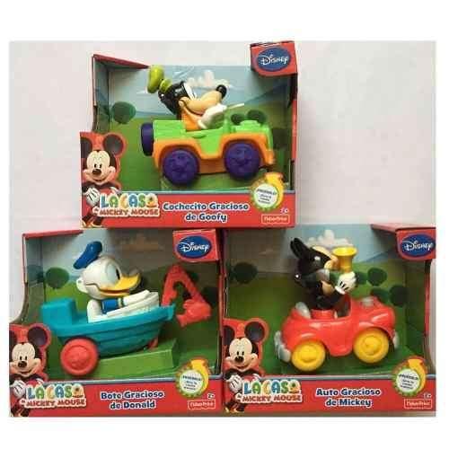 Mckey Mouse Clubhouse Vehículos Graciosos con fraces y sonidos habla y rie