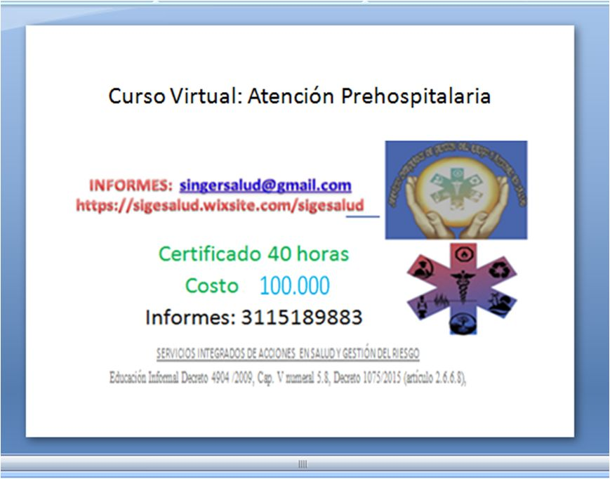 100.000 curso virtual atención prehospitalaria