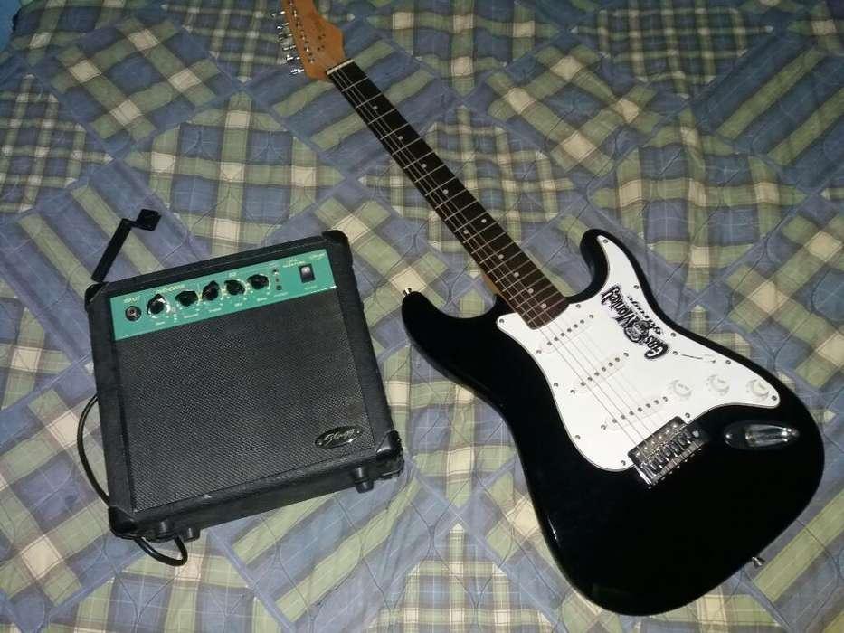 Guitarra Electrica Stagg Amplificador