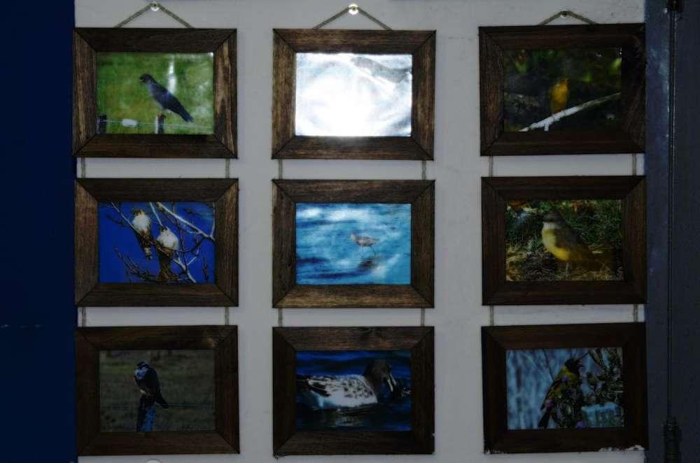 Porta Retrato de Madera Rustico Y Vidrio