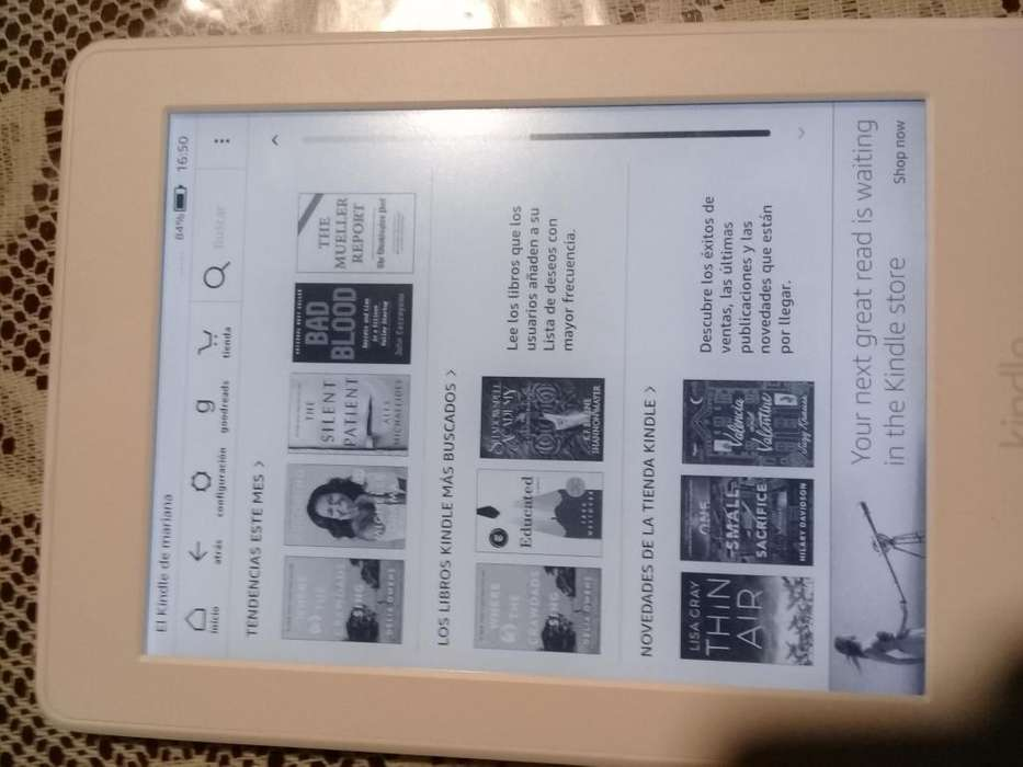 Amazon Kindle paperwhite tactil luz wifi Ebook reader