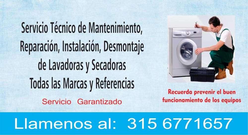 Mantenimiento y reparación de lavadoras y secadoras 315 677 16 57