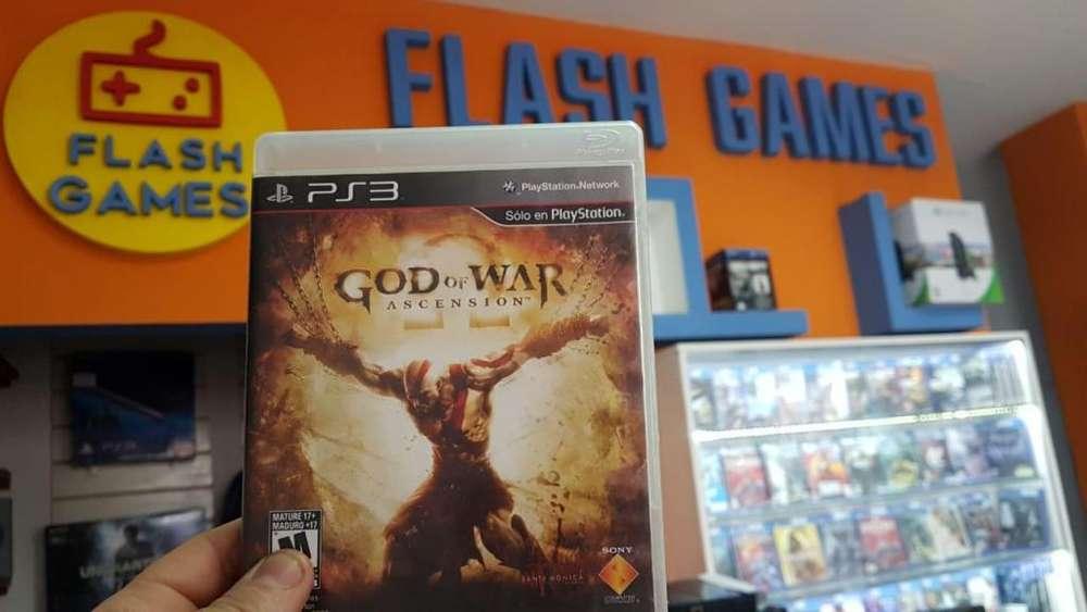 God of War Ascension. recibo tarjetas. garantía. local céntrico. juegos play 3 físico usado. ps3