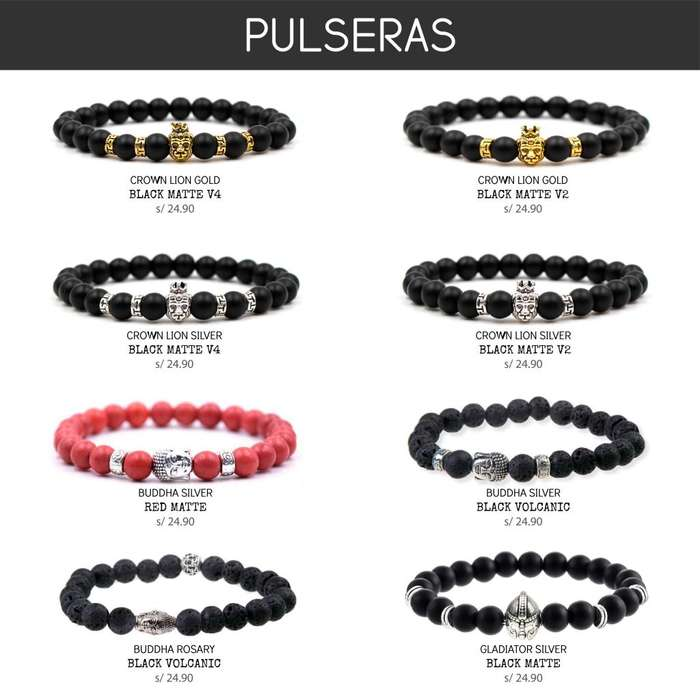 Pulsera Buda Tibet Leon King Lion Buddha Piedras Naturales Colores Hombres Mujer Unisex Regulable Mr.BoU