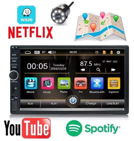RADIO PARA CARRO PANTALLA TACTIL BLUETOOTH MIRROR LINK USB NUEVO SISTEMA OPERATIVO ACTUALIZADO