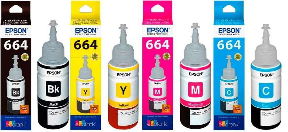 Tinta Epson 664 Original colores