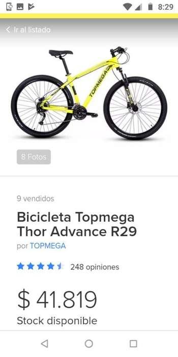 Vendo Bici Top Mega R29