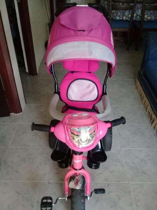Venta de Paseador y Triciclo para niña usado en excelente estado