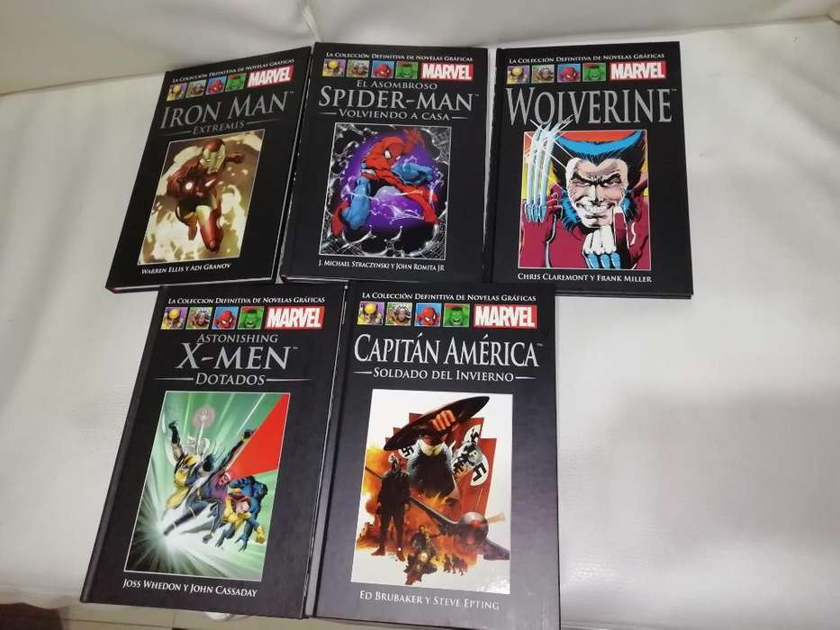 5 Tomos <strong>novela</strong>s Gráficas Marvel