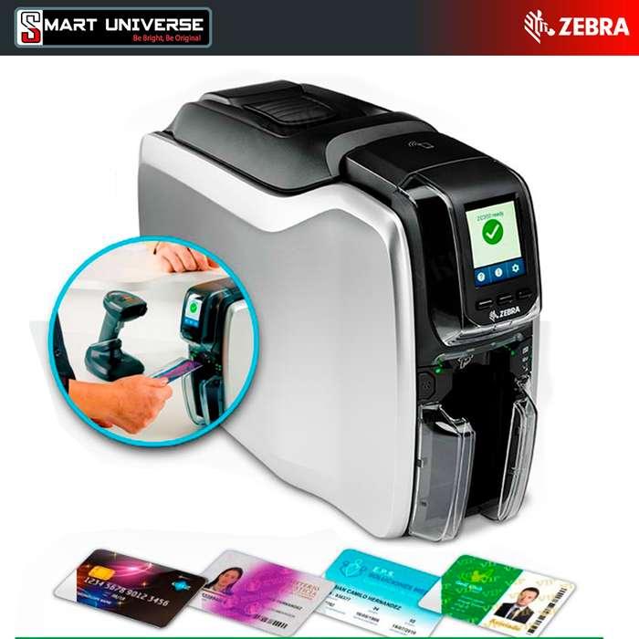 Impresora Tarjetas PVC Zebra Zc300 Credenciales Una Cara Usb Red Selladas