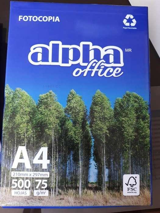 Hojas Bond A-4 75gr Alpha Office