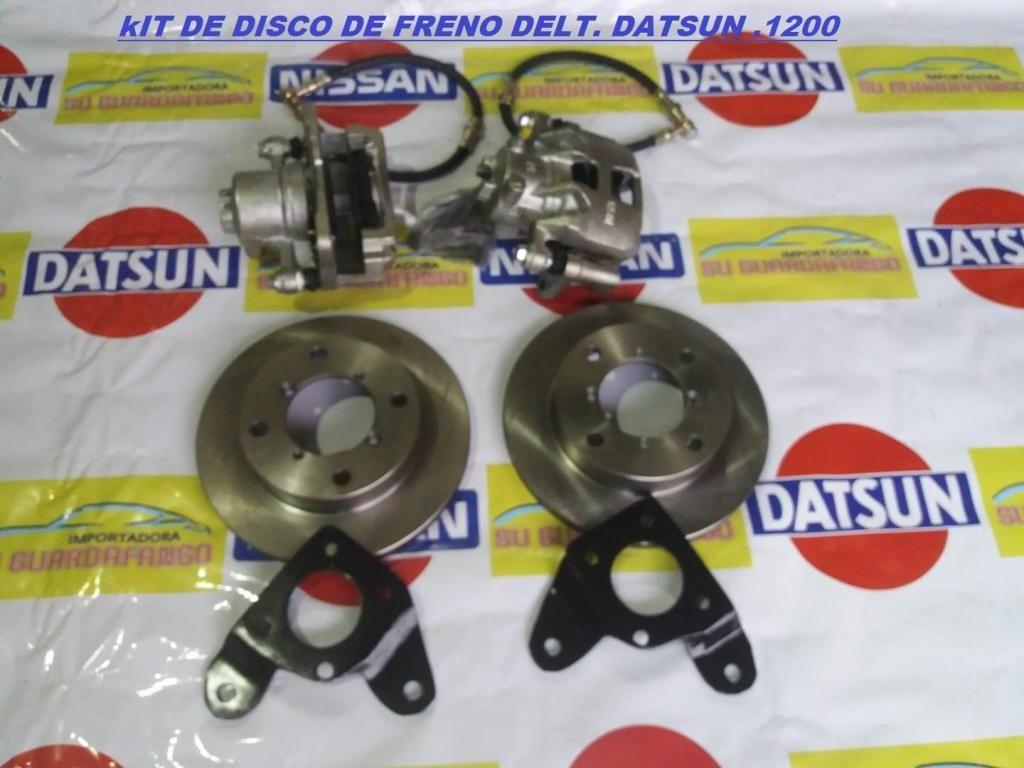 KIT DE DISCO DE FRENO DELANTERO DATSUN 1200