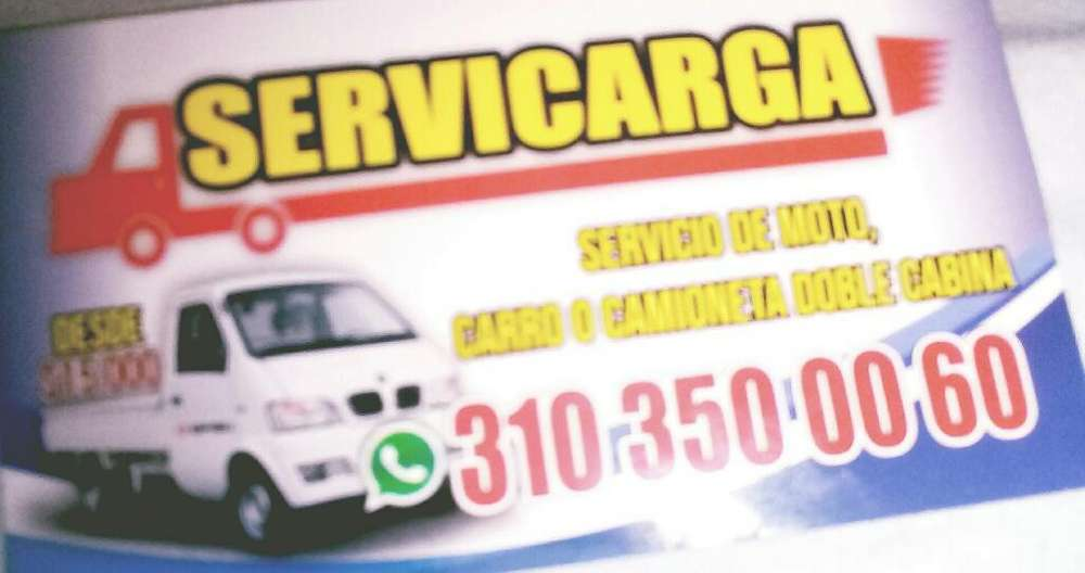 Servicio de Acarreos Camioneta O Moto Ca