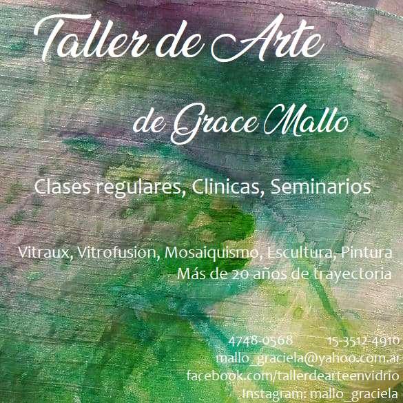 Taller de arte, vitrofusion, vitraux, mosaico, pintura, porcelana, escultura