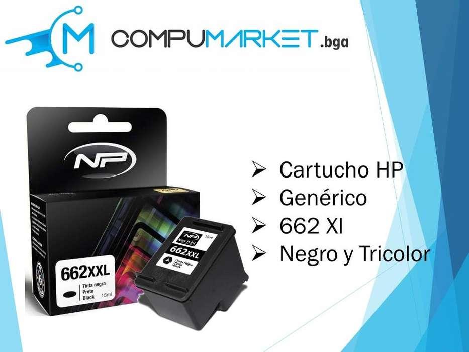 Cartucho de tinta HP 662 Xl Generica negro y tricolor nuevo y facturado.