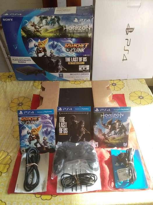 Playstation 4 Play 4 Ps4 Slim Cuh2015A 1Joystick 3 Juegos Caja Manual COMO NUEVA ENVÍOS ACEPTO TODAS LAS TARJETA
