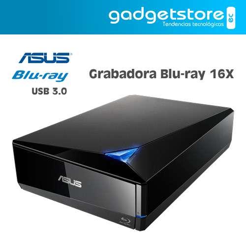 GRABADORA BLURAY 16X ASUS TURBODRIVE BW16D1XU USB 3.0/3.1 MDISC