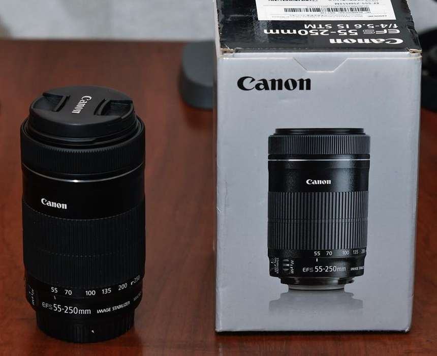 <strong>canon</strong> 55 250 en caja