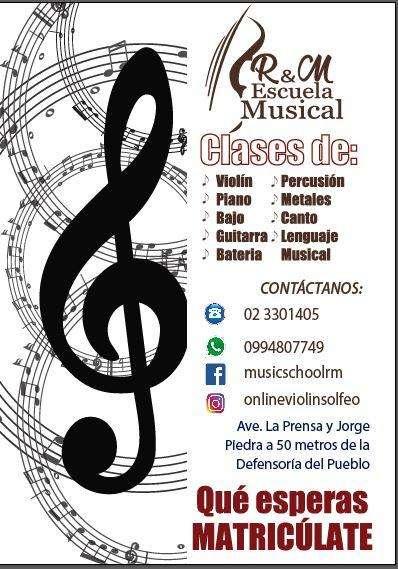 CUPOS LIMITADO ESCUELA MUSICAL RM
