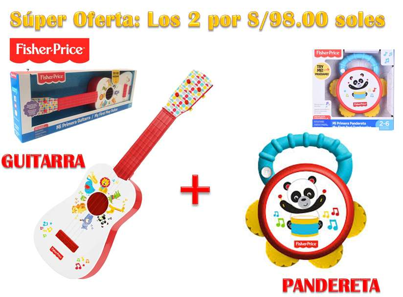 GUITARRA más PANDERETA FISHER PRICE