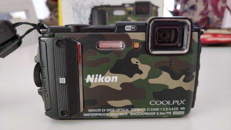 Nikon AW130 sumergible hasta 30 metros, ideal buceo, pileta, playa, etc