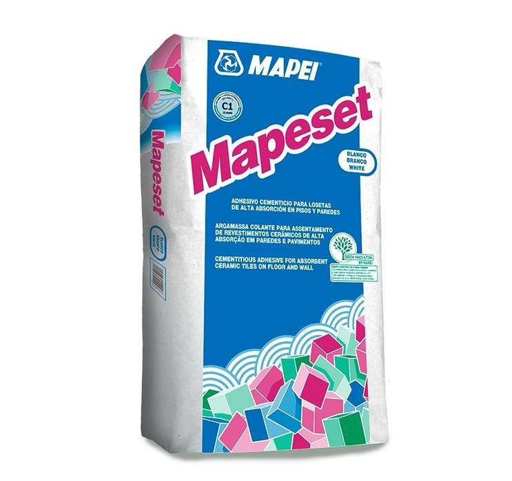 Pegamento para mayolicas MAPESET 20 Kg MAPEI extra fuerte