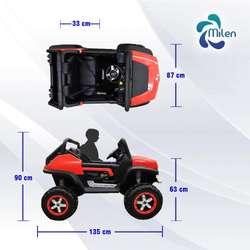 Mini Carro Eléctrico Para Niños Mecedes Benz Unimog