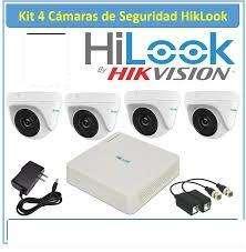 KIT HILOOK 4 CAMARAS 720P MAS DVR MAS DISCO DURO 1TB CABLES