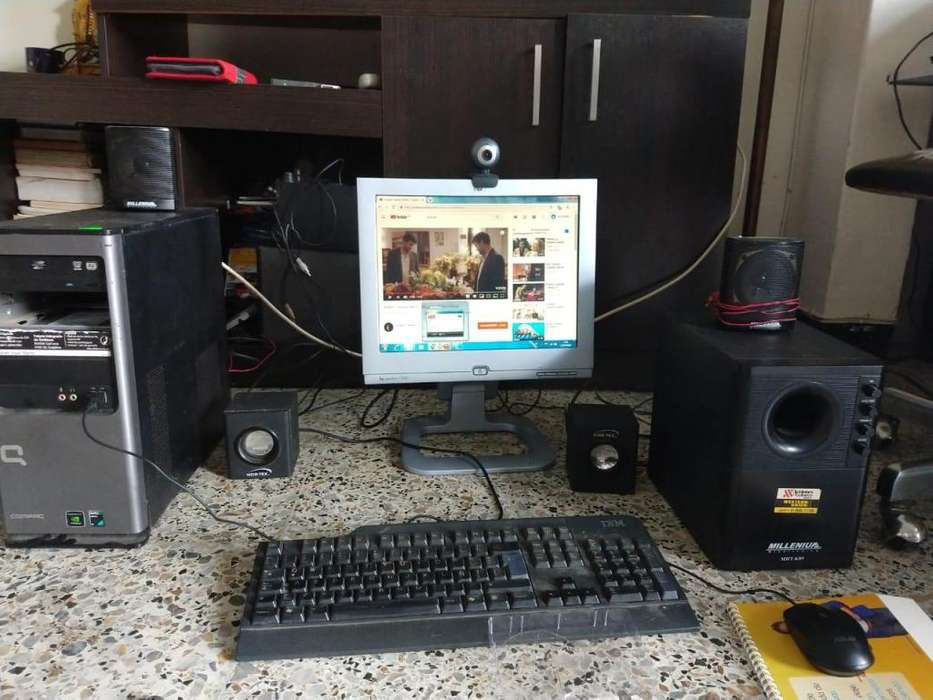 Vendo o Cambio PC de escritorio con teatro en casa y antena Wifi