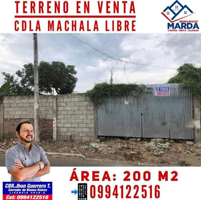 Venta de Terreno en Cdla. Machala El Oro