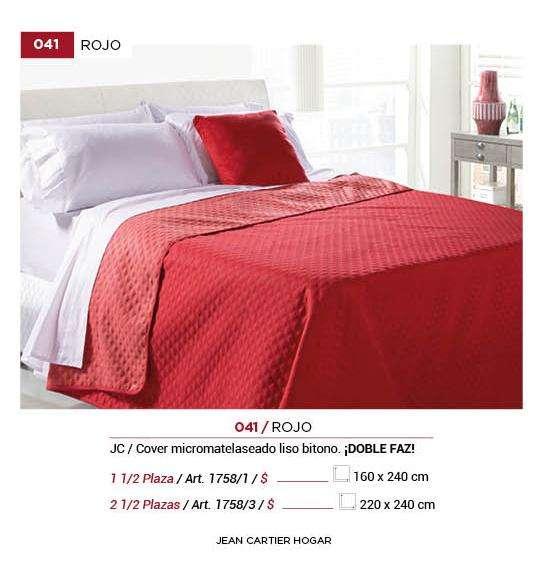 Jc Cover Rojo 2 1/2 Plazas y 1 1/2 Plazas