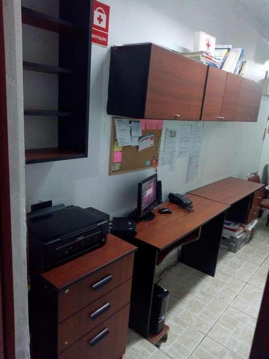 Remato Mueble Oficin. en Melam. 7 Partes