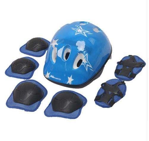cascos nuevos para niños set completo en rosado y azul servicio de envio gratuito