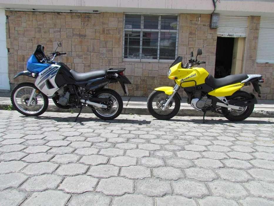 MOTOS DOBLE PROPOSITO: KAWASAKI KLR 2009 Y SUZUKI FREEWIND