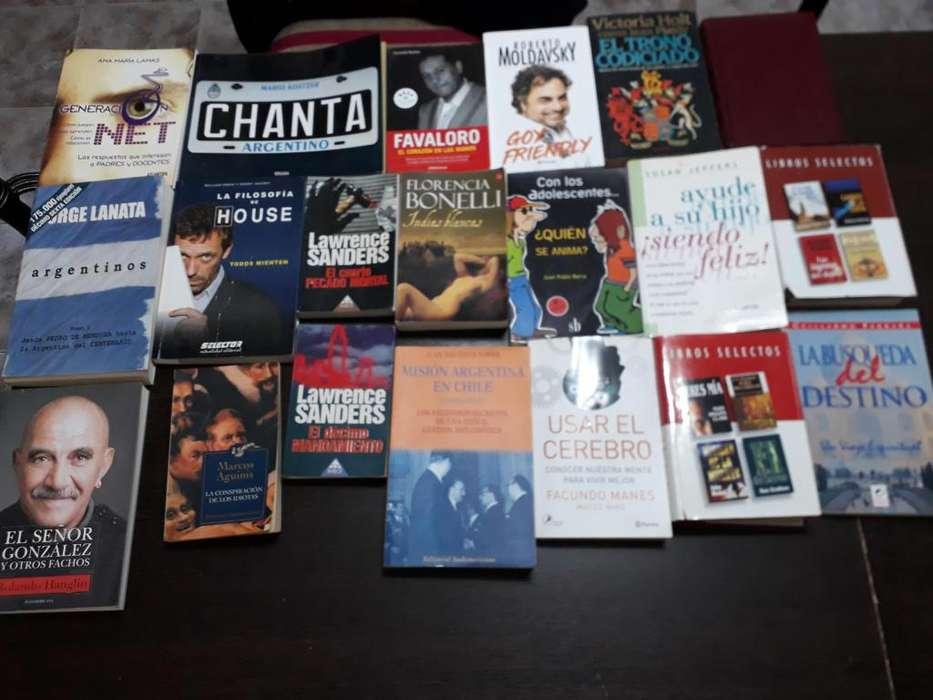 vendo lote de 20 libros usados en perfecto estado.