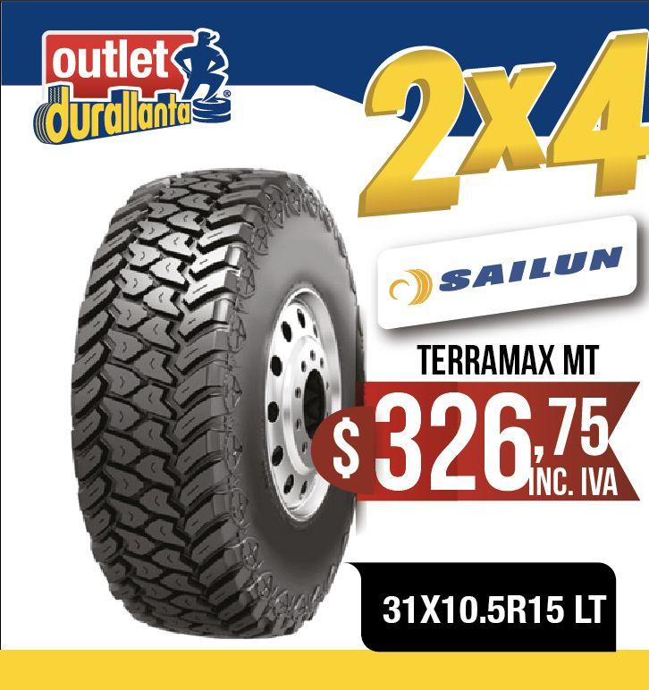 LLANTAS 31X10.5R15 LT SAILUN TERRAMAX MT