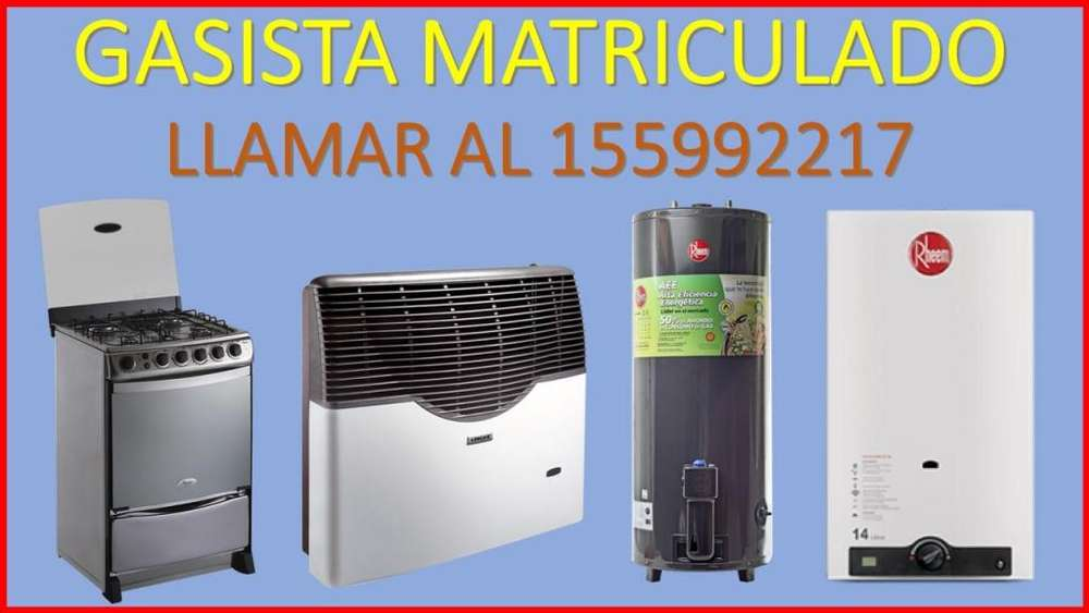 Gasista matriculado en Mendoza repara, limpia e instala, estufas, cocinas, calefones, termotanques , etc