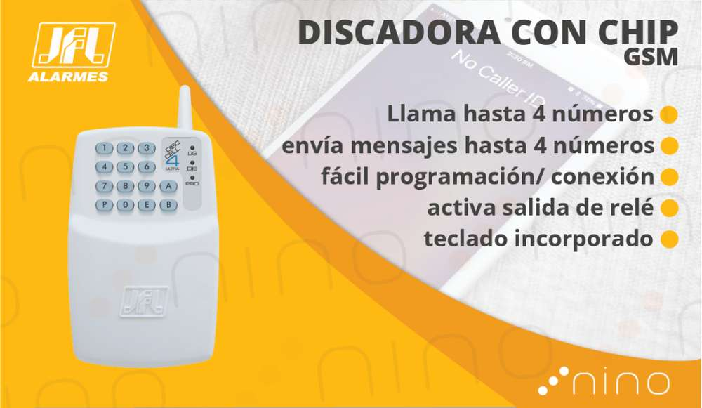 Discadora para cercos/alarmas GSM