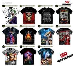 Camisetas en Algodón Sublimadas!!
