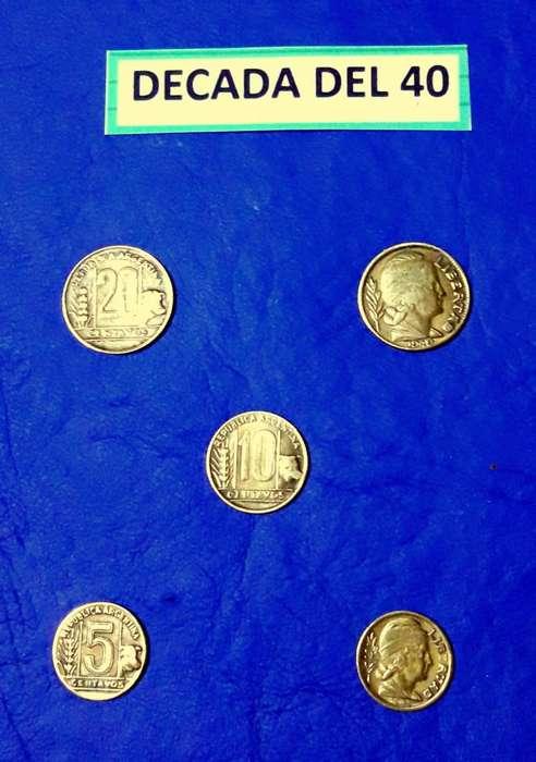 Monedas Argentinasdecadas Del 4050607080lote 170 Mon.